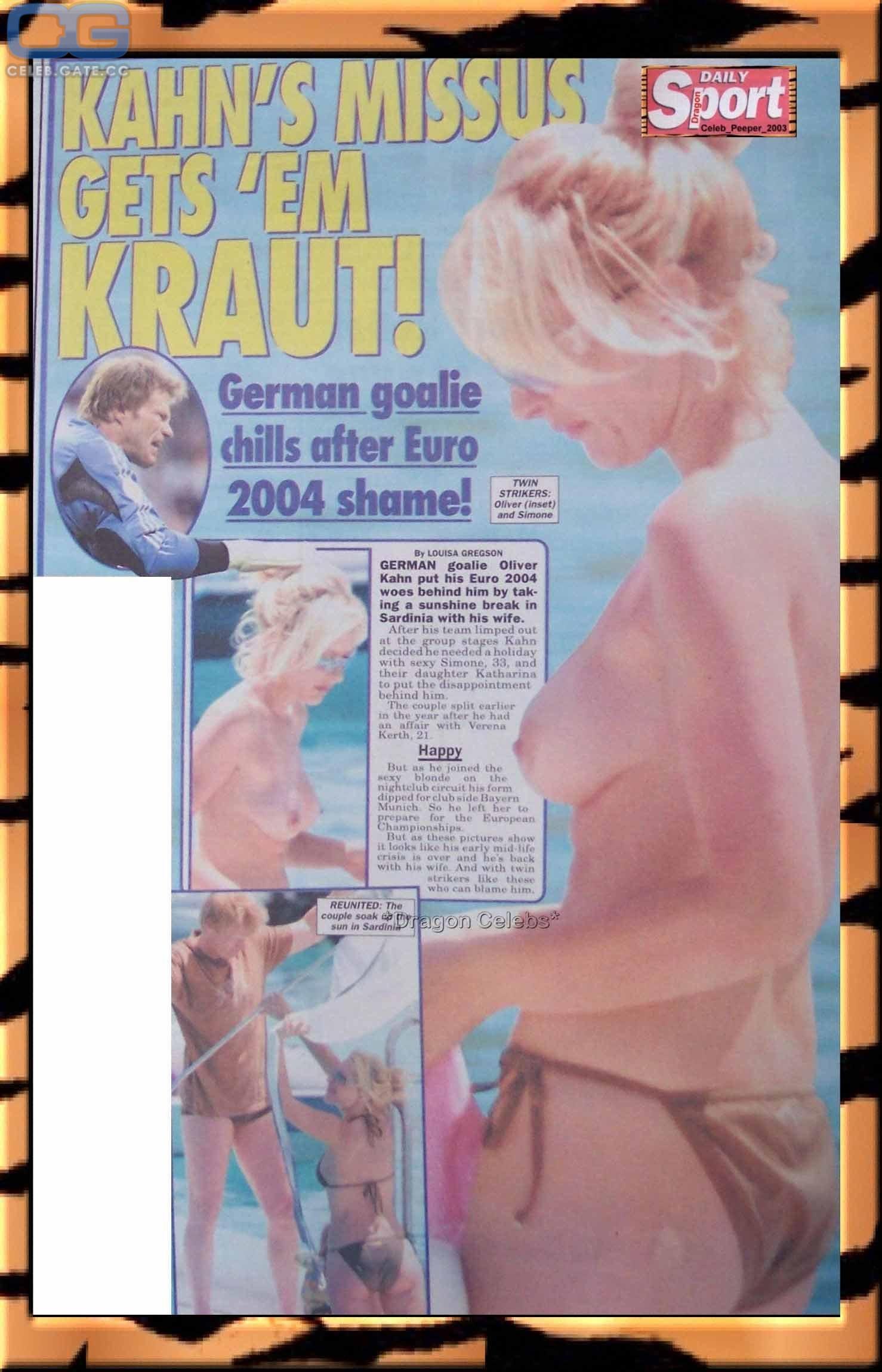 Simone Kahn  nackt
