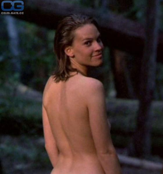 Topless hilary swank Hilary Swank