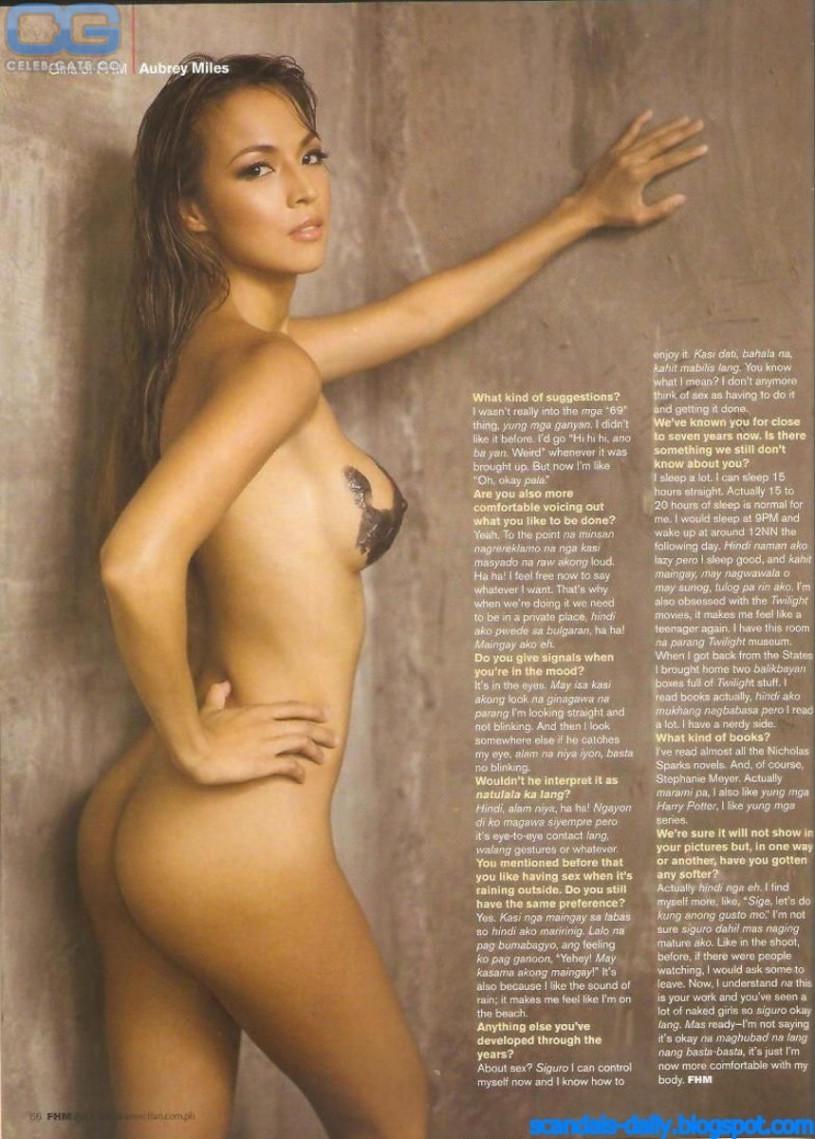 Message, aubrey mile nude photo