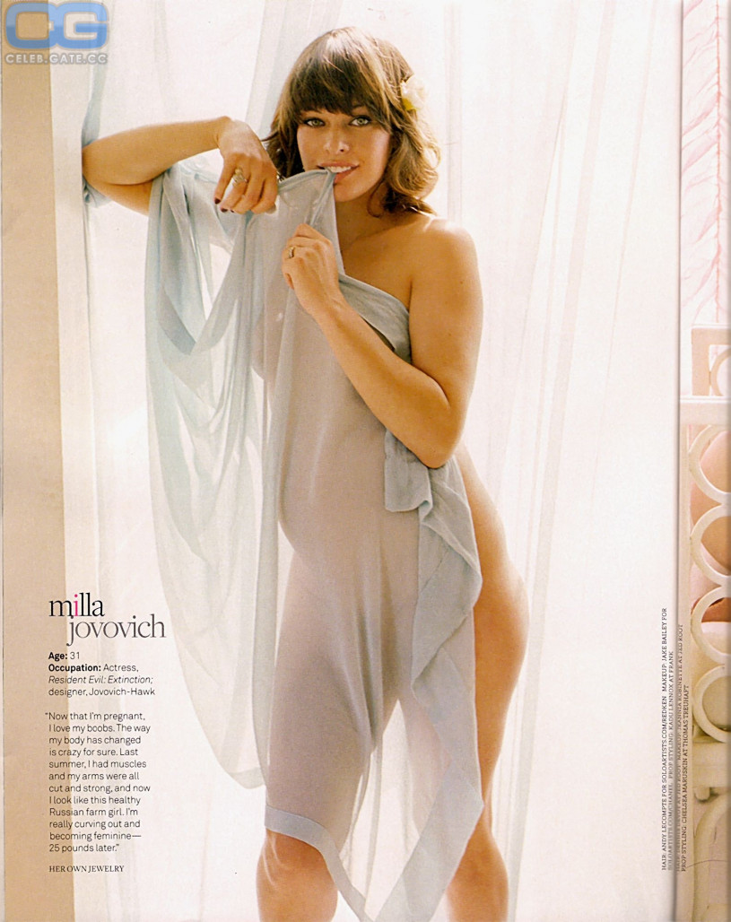 milla jovovich nude in playboy