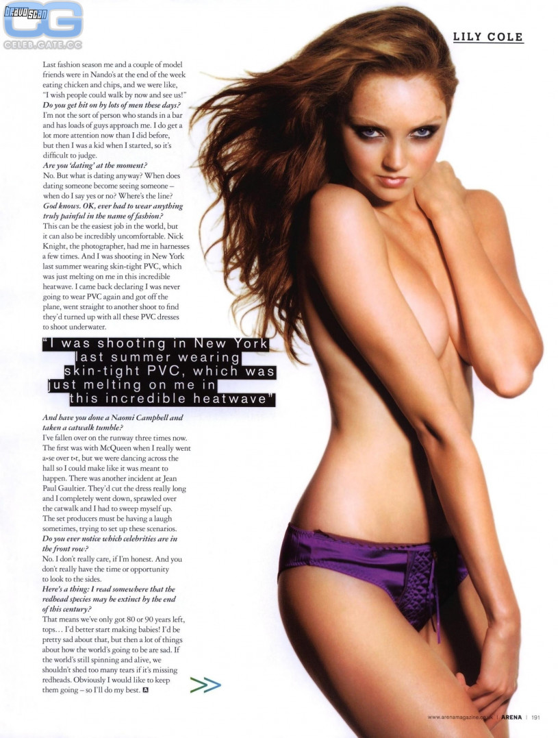 Lily cole playboy nude