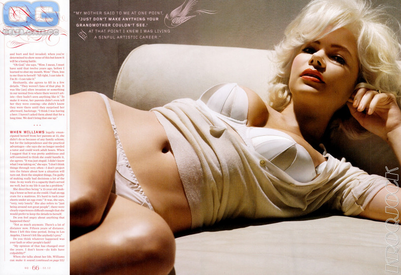 michelle williams naked
