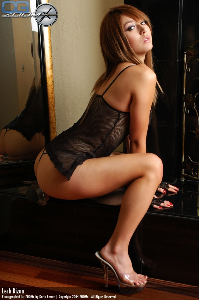Leah dizon topless something