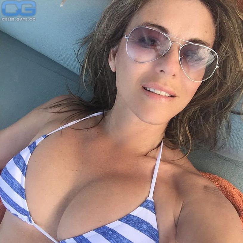 Elizabeth Hurley selfie