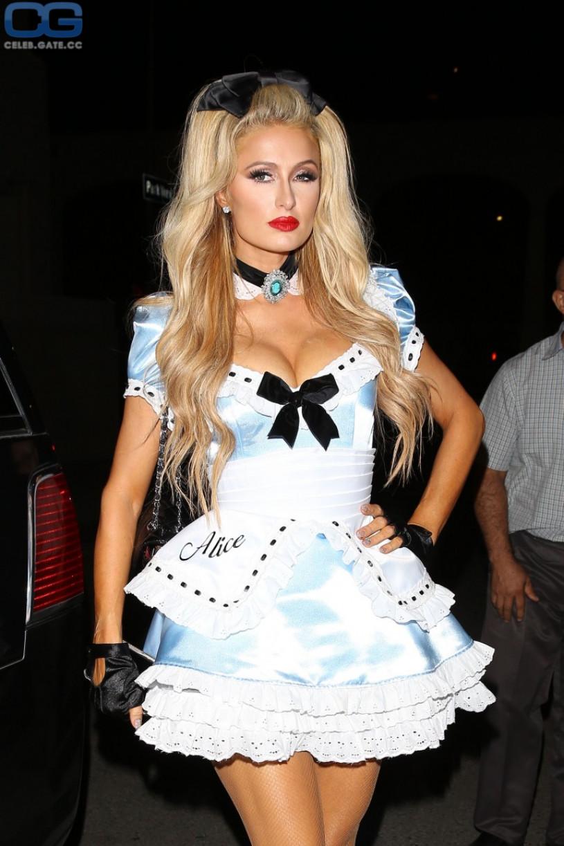 Paris Hilton braless